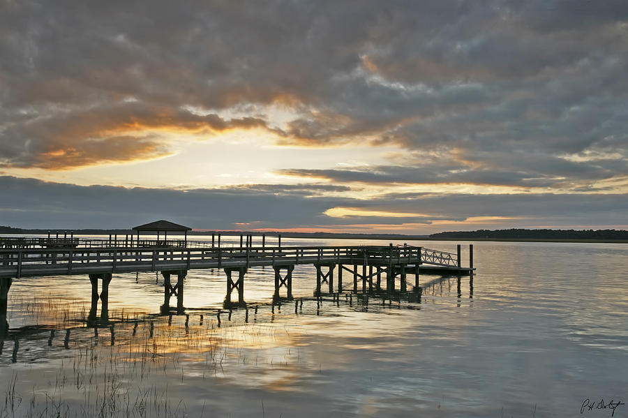Sunset Photograph - Dock Reflections by Phill Doherty