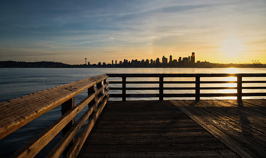 Seattle Photograph - Dock With A View by Manuela Durson