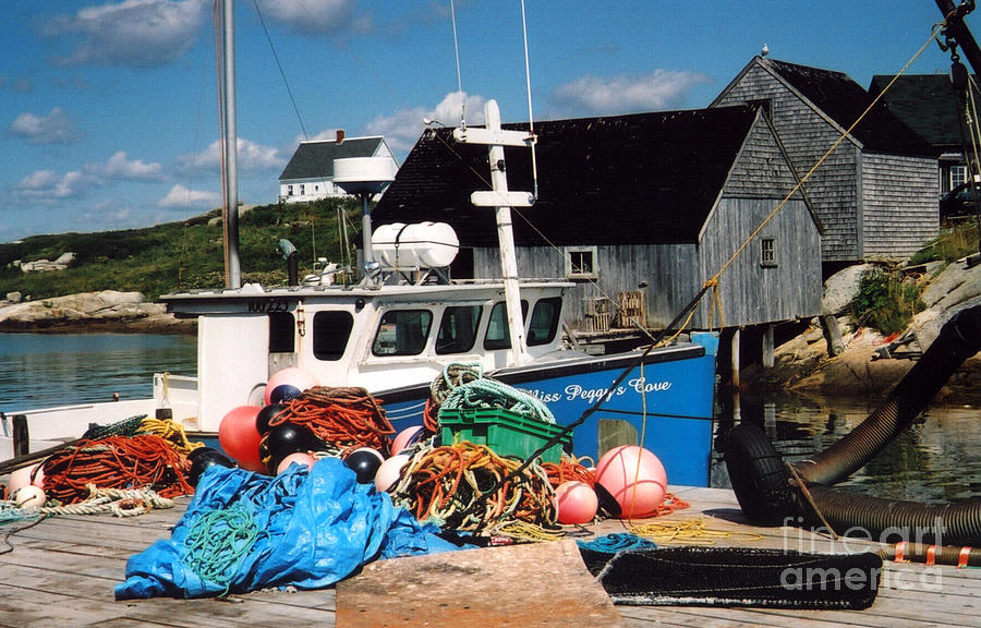 Peggy's Cove Photograph - Docked by Andrea Simon