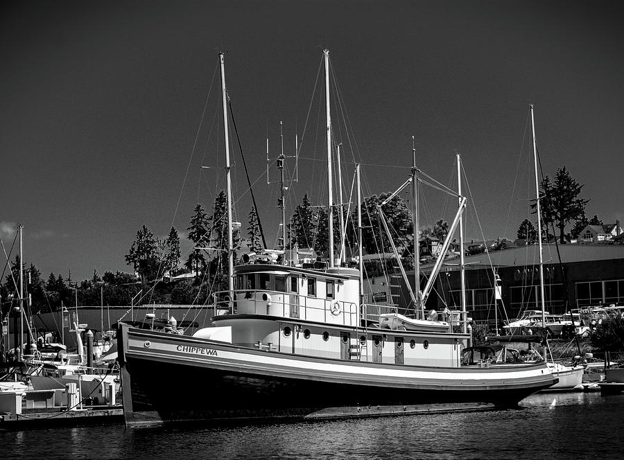 Docked Fishing Boat by Jason Brooks