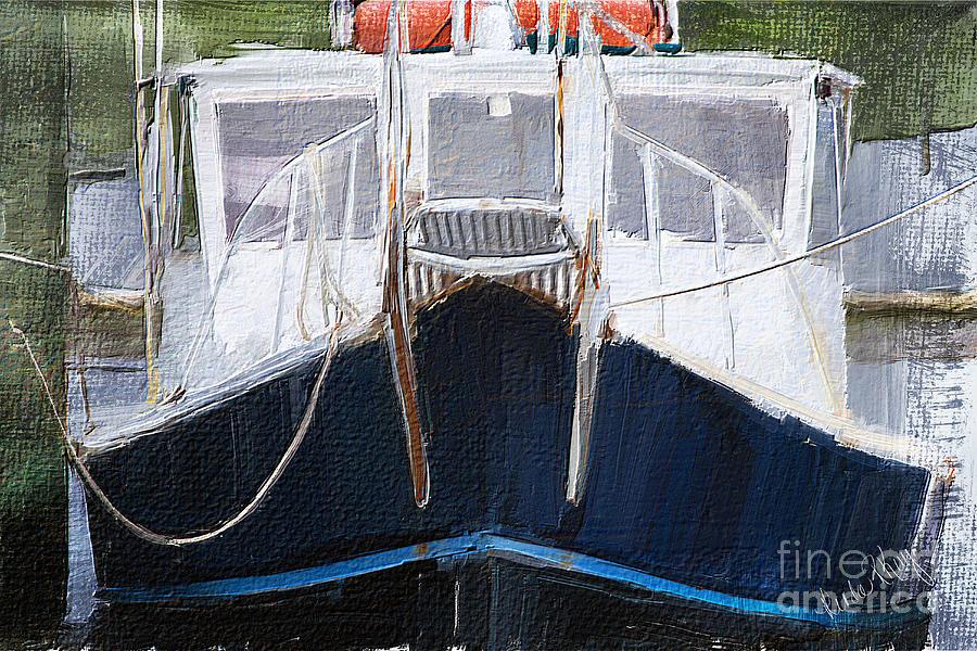 Fishing Digital Art - Docked For The Night by Linda King