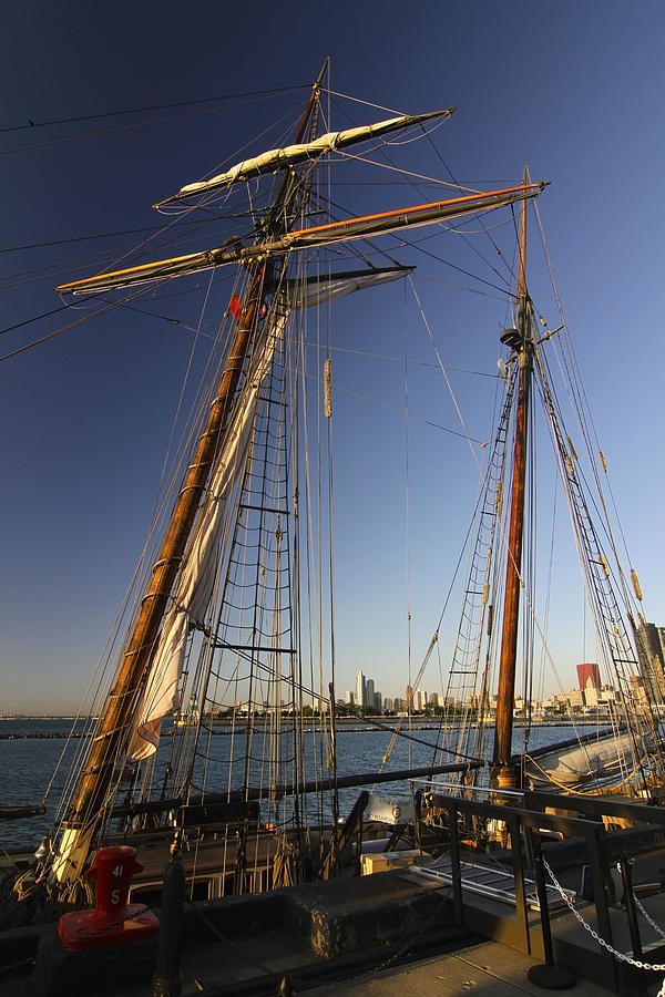 Tall Ship Photograph - Docked Tall Ship by Sven Brogren