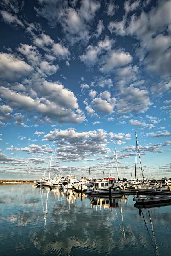 Docked Under The Clouds Photograph