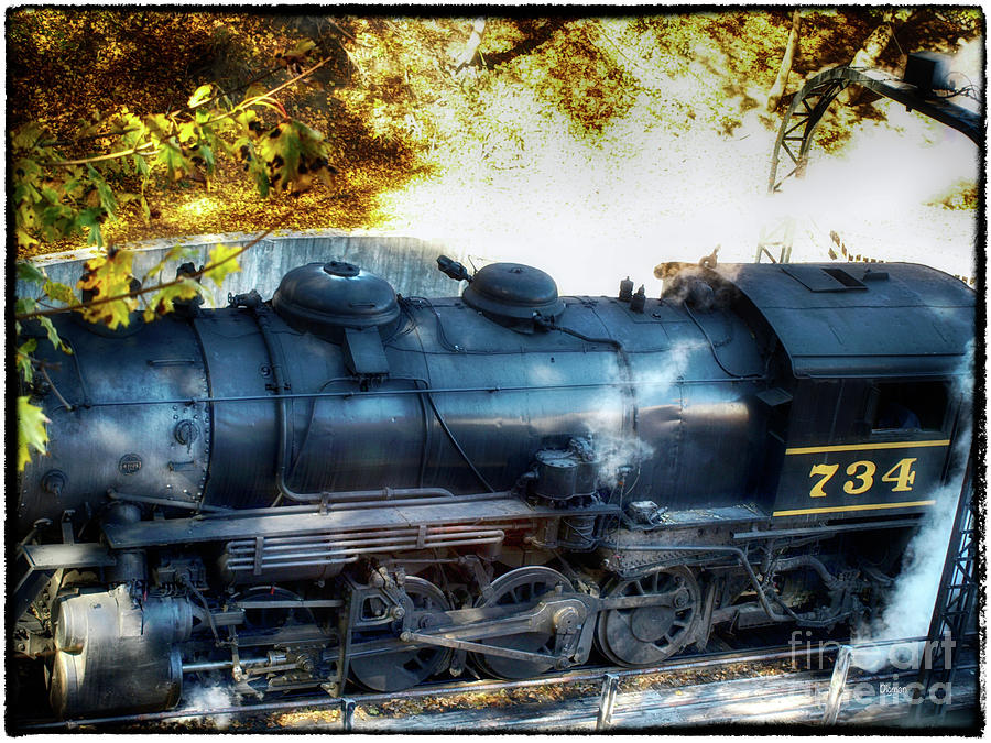 Trains Photograph - Docking The 734 by Steven Digman