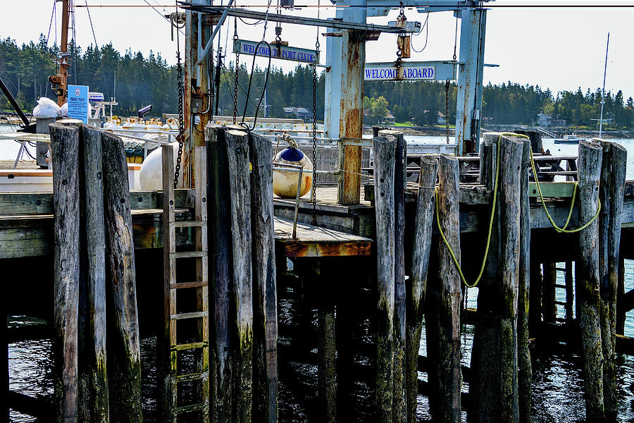 Docks in Port Clyde, Maine by Marilyn Burton