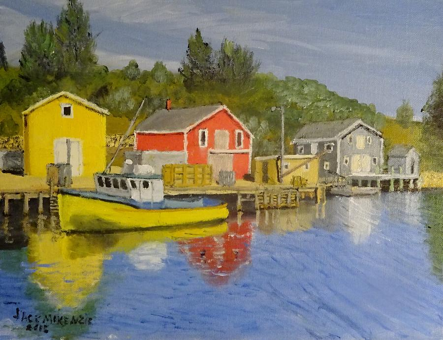 Canada Painting - Docks Of Northwest Cove - Nova Scotia by Jack McKenzie