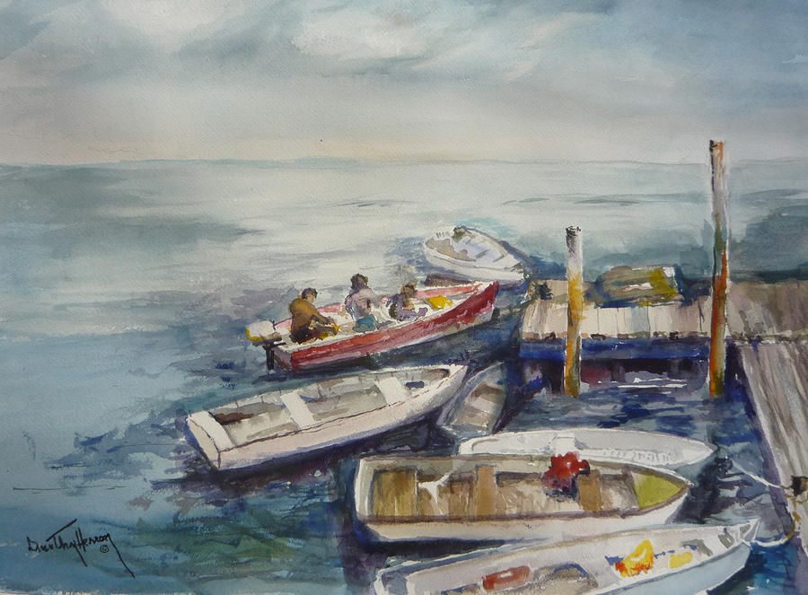 Dock Painting - Dockside by Dorothy Herron
