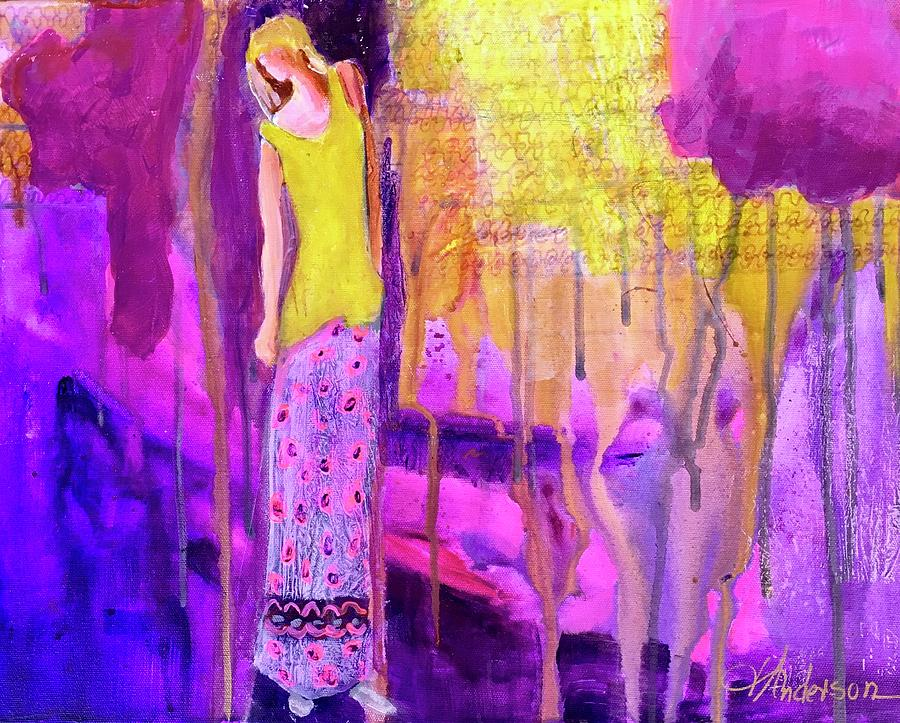 Abstract Figure Painting - Docs Daughter  by Joan Anderson