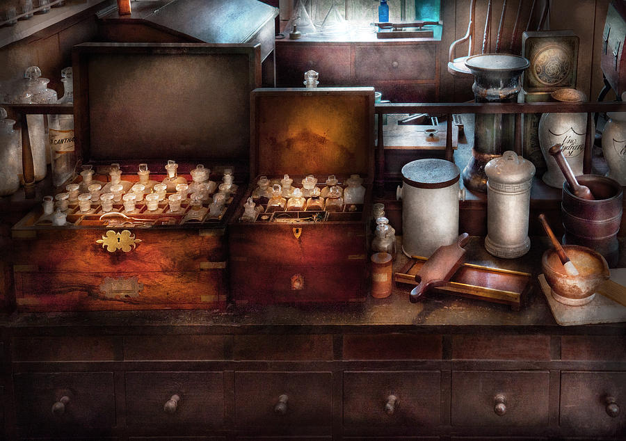 Hdr Photograph - Doctor - Doctor In A Box by Mike Savad