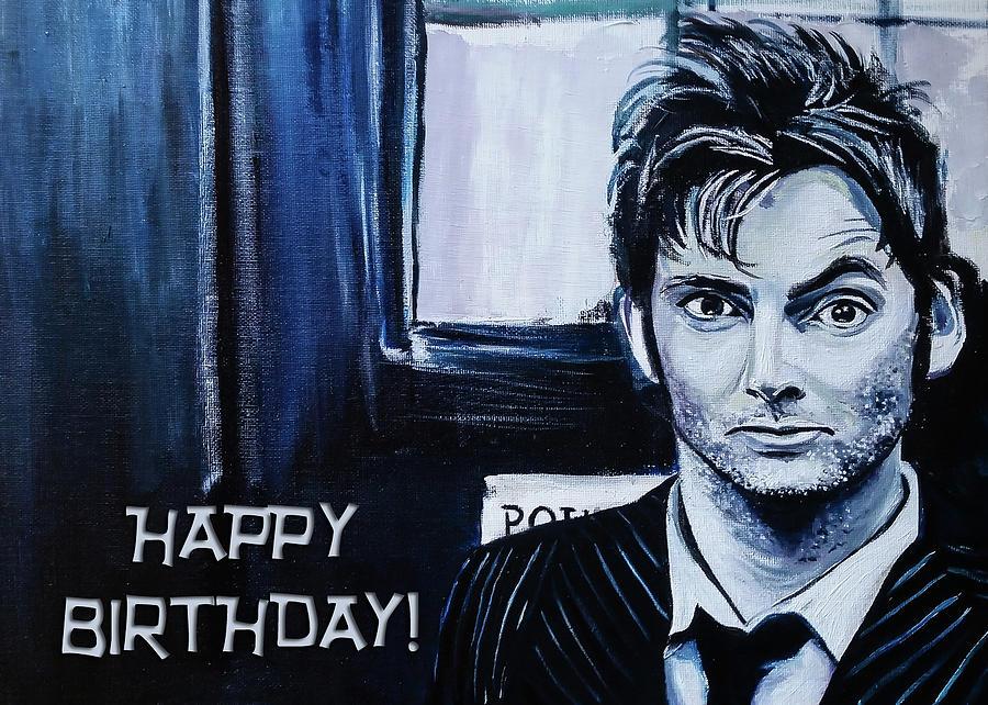Doctor Who Birthday Card Painting By Rowan Lyford