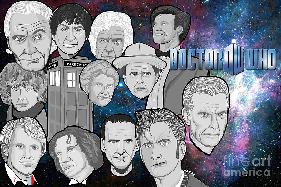 Collage Painting - Doctor Who Collage by Gary Niles