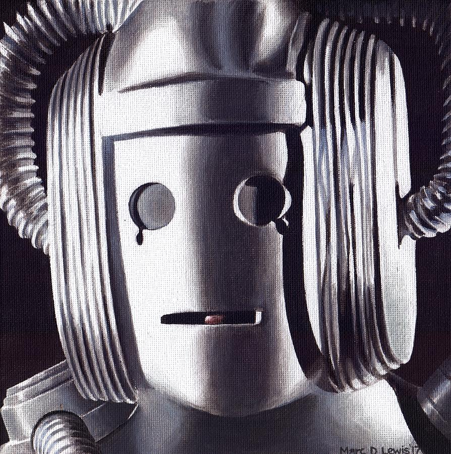Doctor Who Painting - Doctor Who - Cyberman On Voga by Marc D Lewis