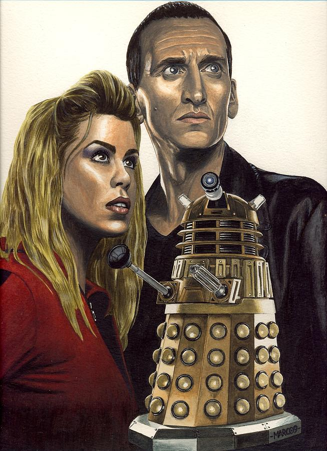 Doctor Who Painting - Doctor Who - Dalek by Marc D Lewis