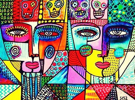 Dod Art 123ito Mixed Media by Sandra Silberzweig