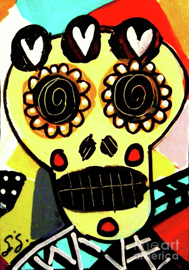 Dod Art 123tyu Mixed Media by Sandra Silberzweig