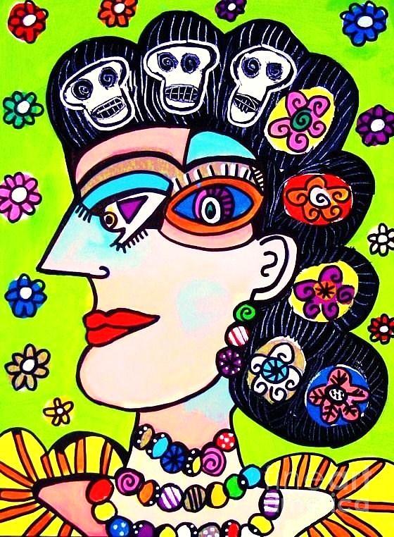 Dod Art 123uioo Mixed Media by Sandra Silberzweig