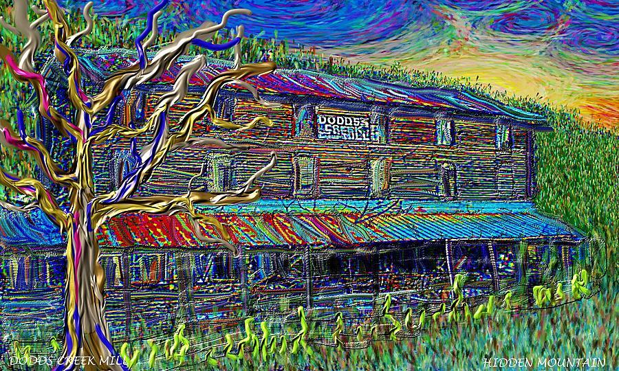 Dodds Creek Mill, ,Floyd Virginia by Hidden Mountain