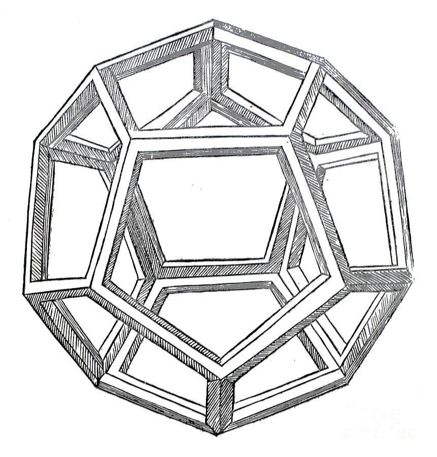 dodecahedron drawing by leonardo da vinci