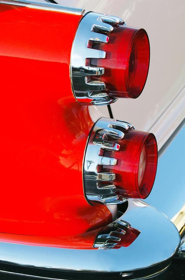 Car Photograph - Dodge Coronet Taillight by Jill Reger