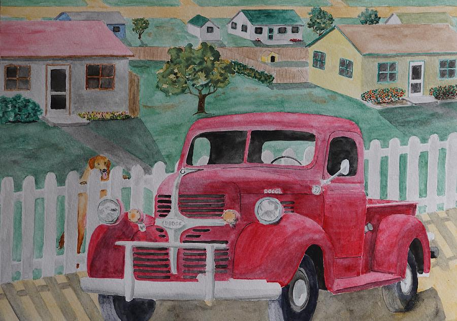 Dodge Painting - Dodge by Gary Thomas