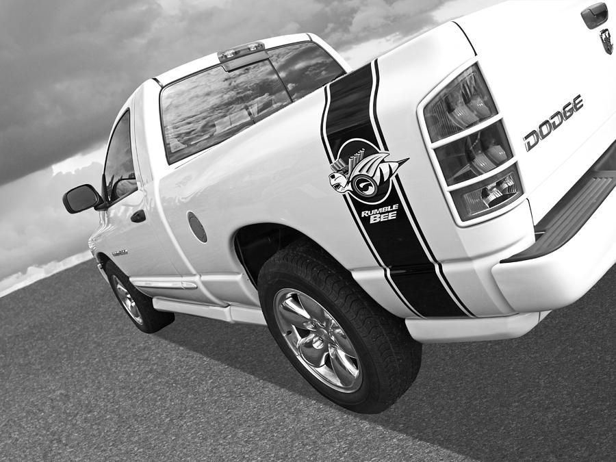 Dodge Ram Rumble Bee >> Dodge Rumble Bee In Black And White By Gill Billington
