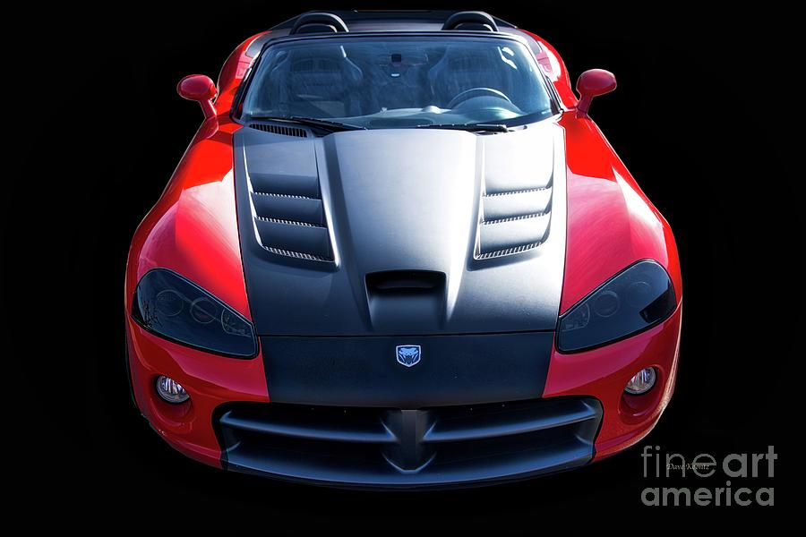 Auto Photograph - Dodge Viper Roadster by Dave Koontz