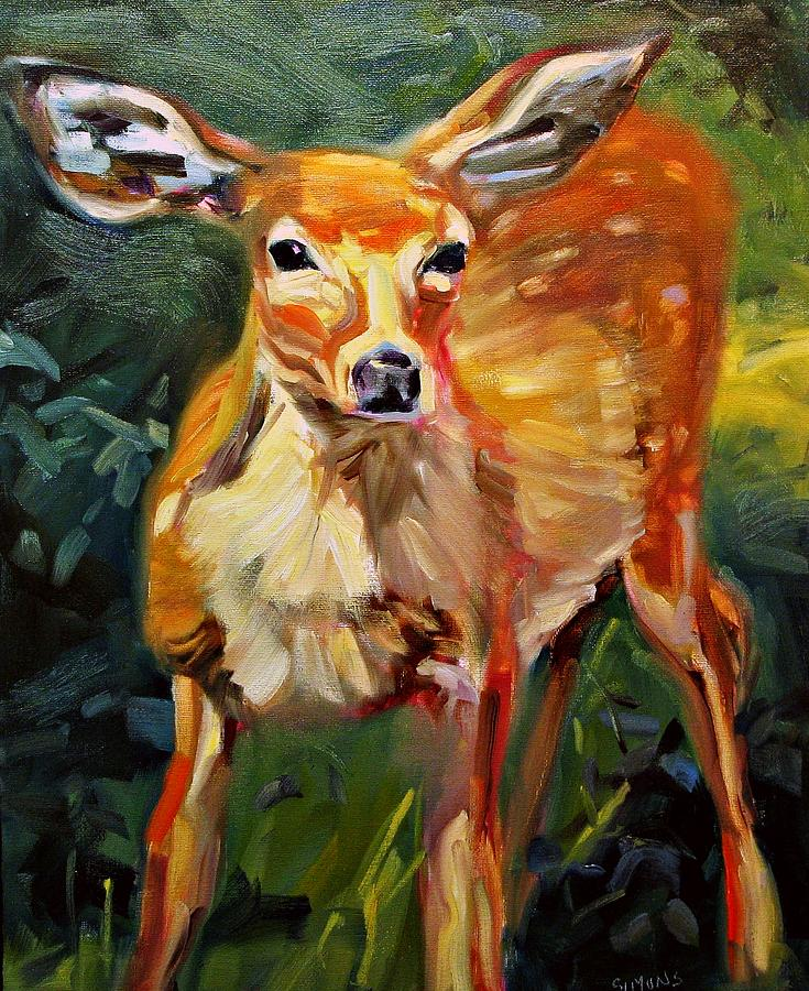 Wildlife Painting - DOE by Brian Simons
