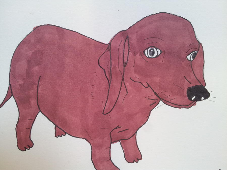 Dog 2 Drawing