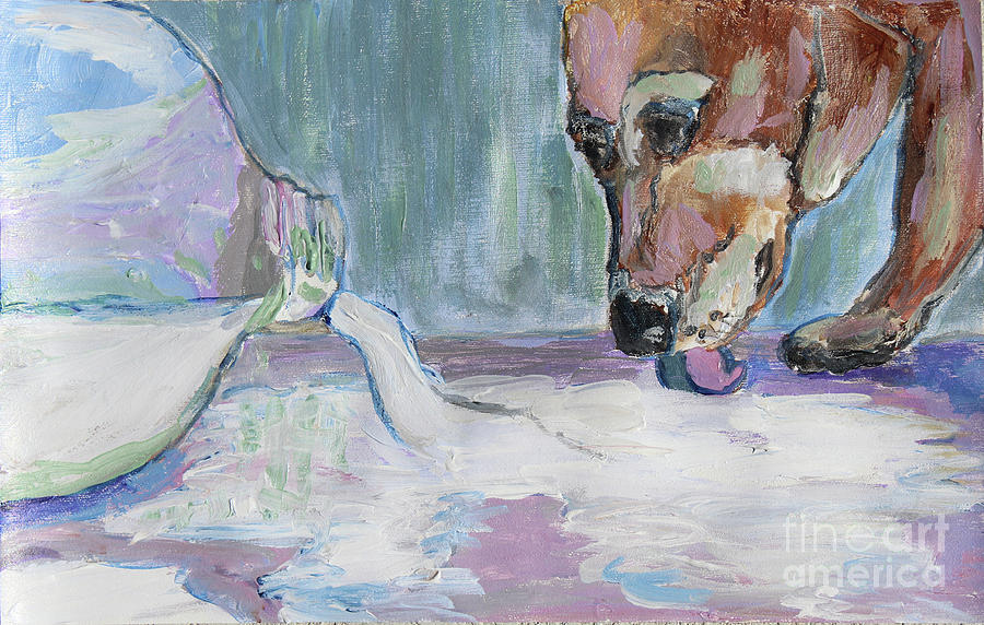 Dog and Spilled Milk by Jeanne Forsythe