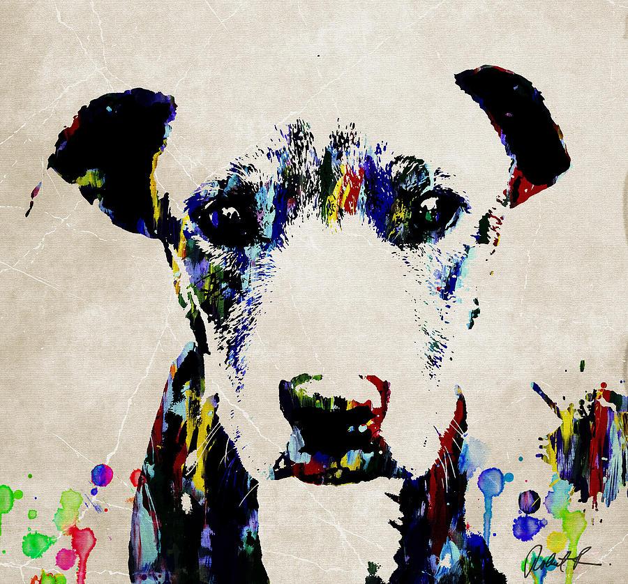 Dog Art Abstract Modern Painting Painting by Robert R Splashy Art ...