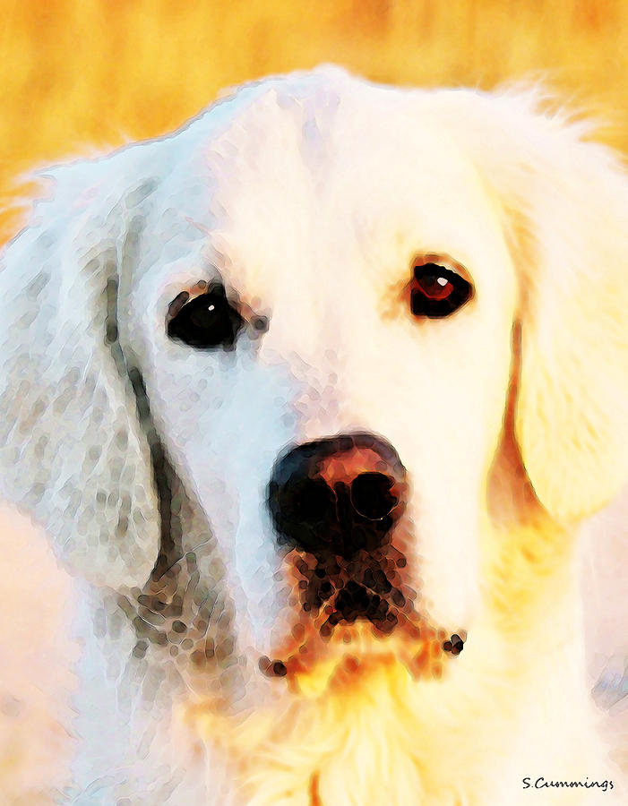 Golden Retriever Painting - Dog Art - Golden Moments by Sharon Cummings