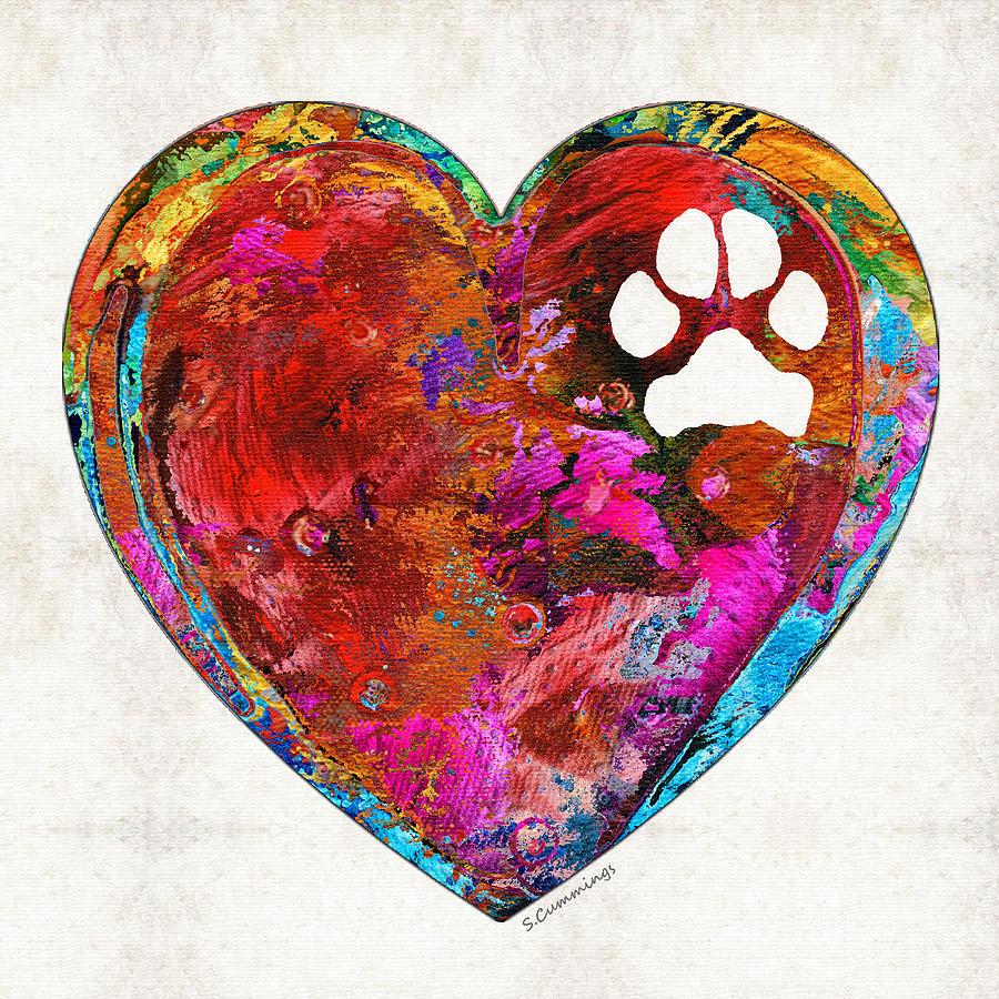 Dog Painting - Dog Art - Puppy Love 2 - Sharon Cummings by Sharon Cummings