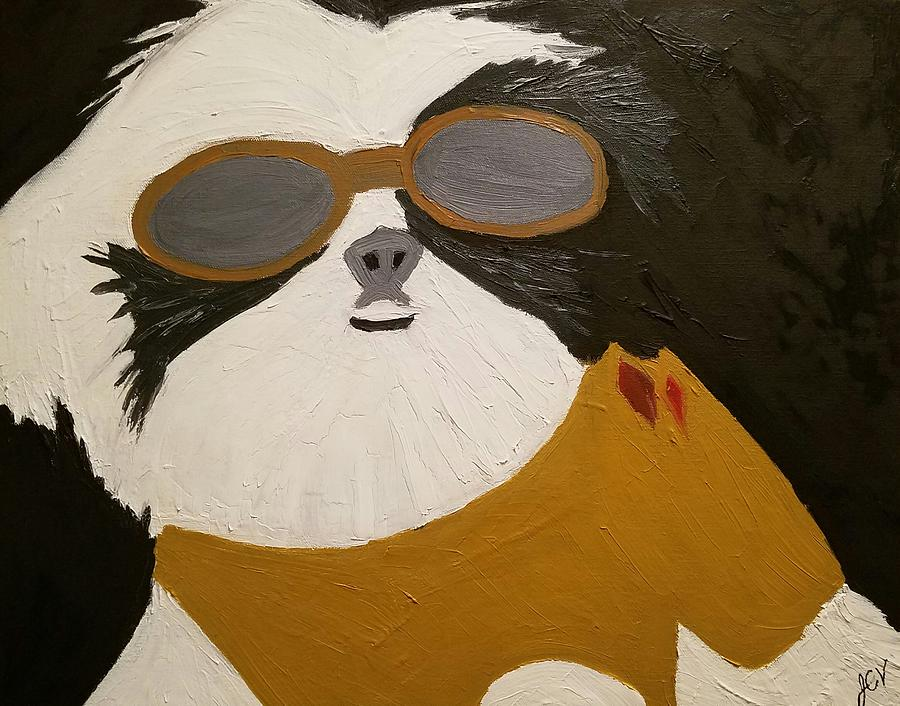 Shih-tzu Painting - Dog Boss by J Cv