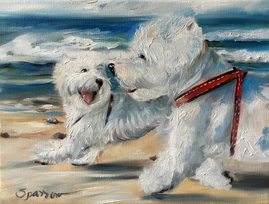 Dog Days Of Summer Painting - Dog Days Of Summer by Mary Sparrow