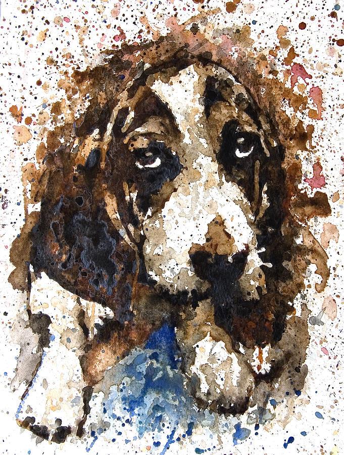 Dog Painting - dog by Ferah Wand
