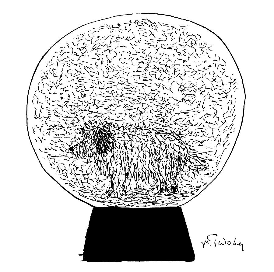 Dog Globe Drawing by Mike Twohy