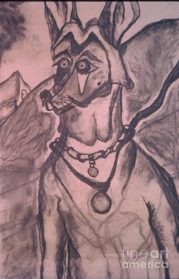 Portrait Drawing - Dog by Katie McGuire