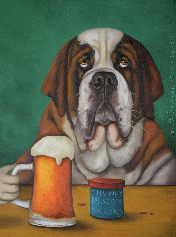 Dog N Suds 2 by Leah Saulnier The Painting Maniac