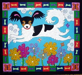 Dog Portrait Commission Painting by Nancy  Coffelt