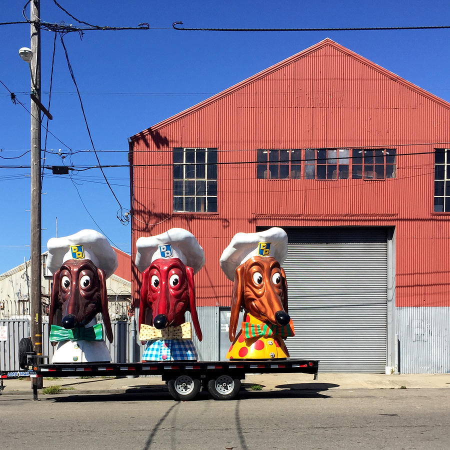 Doggie Diner Heads Photograph by Julie Gebhardt