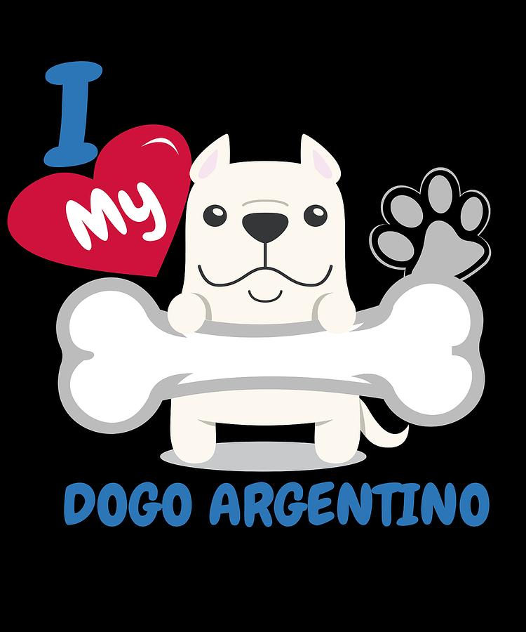 Dogo Argentino Cute Dog Gift Idea Funny Dogs Digital Art By Dogboo