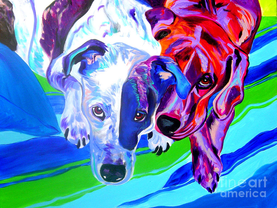 Dog Painting - Dogs - Tango And Marley by Alicia VanNoy Call