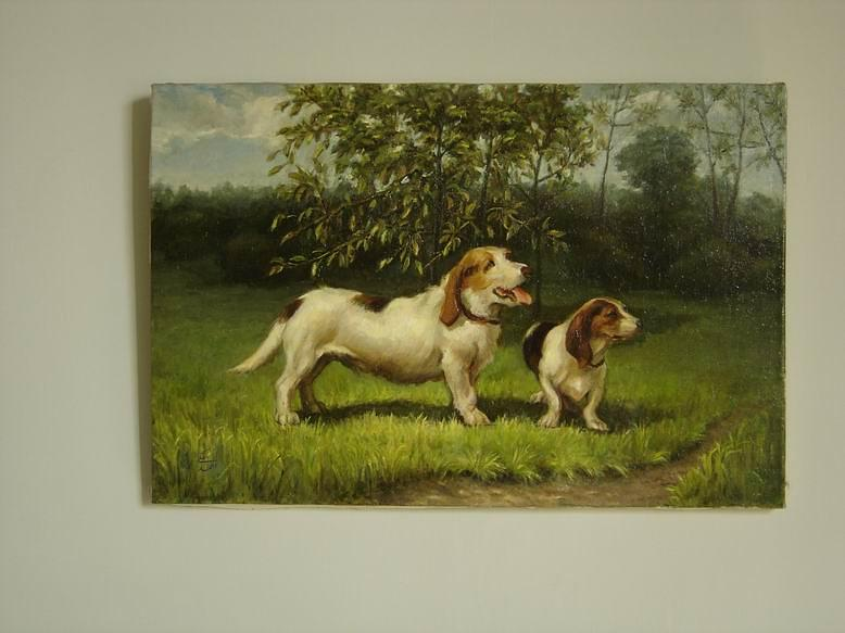 Dog Painting - Dogs by Ahmad Maleki
