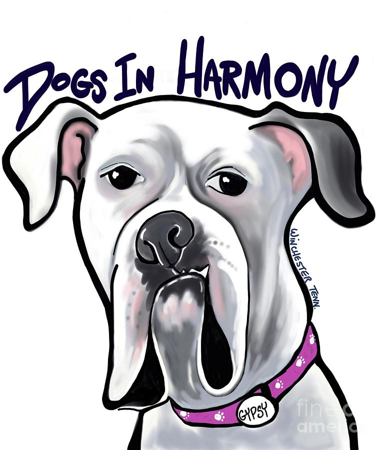 Dogs In Harmony Digital Art By Kim Mumma