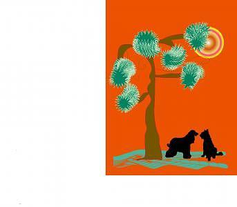 Desert Digital Art - Dogs Talking by Shirley Sacks