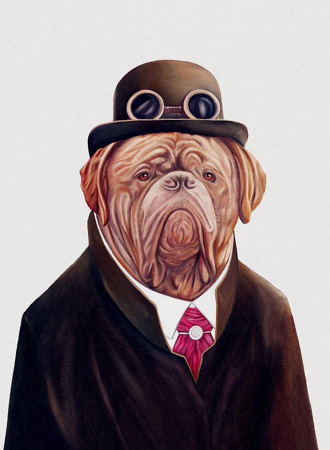 Dogue De Bordeaux Painting - Dogue de Bordeaux by Animal Crew