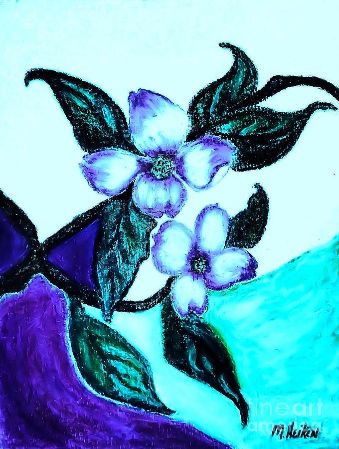 Pastels Digital Art - Dogwood Purple by Marsha Heiken