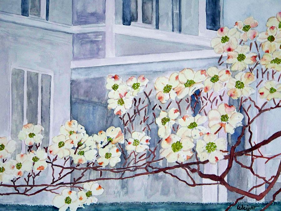Architecture Painting - Dogwood Time In Oldtown by Larry Wright