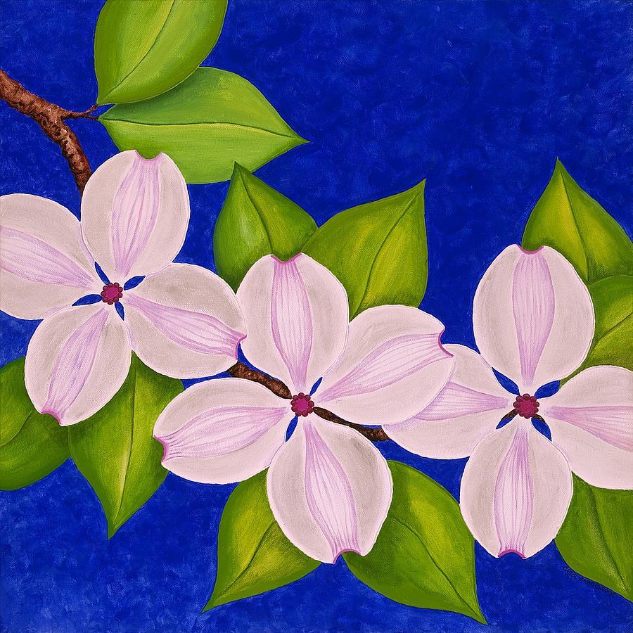 Dogwood Painting - Dogwoods by Carol Sabo