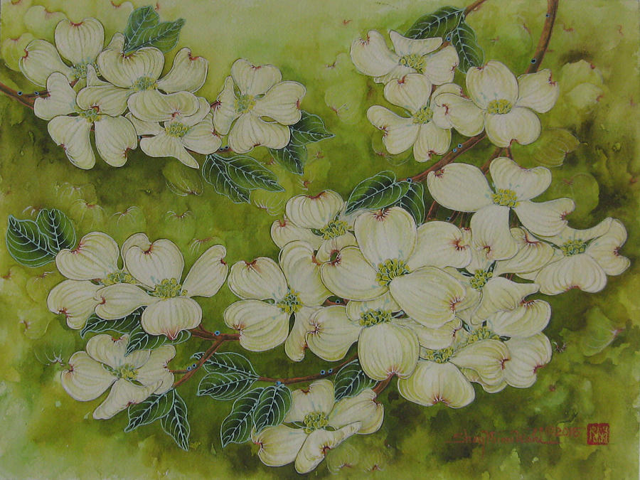 Dogwoods Painting - Dogwoods by Shay Wahl